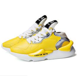 01c6473ca 2019 Mens Y3 Fashion MOTO Shoes Hot Sale High Streetwear Sneakers Outdoor  Schoolboy Mens Y-S Design Yellow Color Casual Shoes 39-44