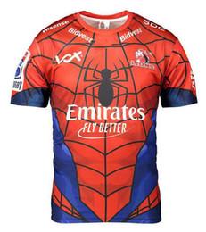 Man S Clothes Australia - 2019 Lions SPIDER-MAN MARVEL JERSEY New Zealand Stormman football clothes Super jersey Rugby Stormers Bulls Sharks Jersey size S-XL-3XL