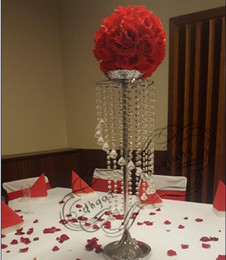 $enCountryForm.capitalKeyWord Australia - Silver Metal Crystal Table Centerpiece Table Decoration wedding Road Lead Candle holder flower vase For Event&Hotel&Party&Home Decoration
