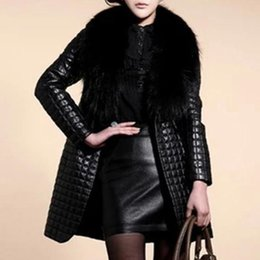 Wholesale leather fur trim coats resale online - Long Sleeve Faux Fur Coat Women Leather Fur Jacket Plus Size Long Coat New Winter Fashion Teddy Open Front Overcoat