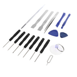 opening mobile phone UK - 18 in 1 Safe Opening Pry Tool Repair Kit, Mobile Phone Repair Screwdrivers Suction Cup Hand Tools Kit for iPhone, Smart Cell Phone, Laptop