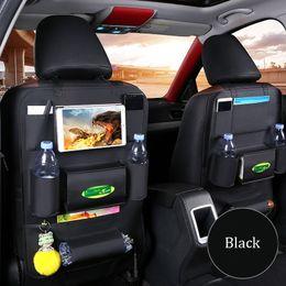Toys Hangings For Car Australia - 1Pcs Leather Car Back Seat iPad Hanging Bag Holder Hook Car Storage For Children Toys Pocket Organizer Sundries Storage Bag