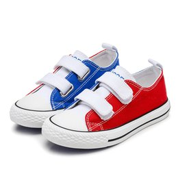 Blue Casual Shoes For Girls NZ - Children Sneakers Boots Kids Canvas Shoes Girls Boys Casual Baby Shoes Canvas Outdoor Sports Shoes for Kids Size 25-38