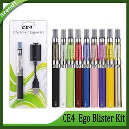 Ego T Clearomizer Australia - Ego starter kit CE4 atomizer Electronic cigarette e cig kit 650mah 900mah 1100mah EGO-T battery blister case Clearomizer E-Cig Free Shipping