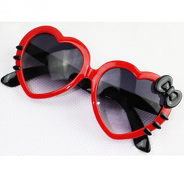 sun glasses for kids NZ - Fashion Lovely Children Mirror Sunglasses Peach Heart Bow Sunglasses UV Sunscreen Sun Glass For Kids
