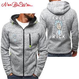 eb43df309 FREE RICK PEACE AMONG WORLDS Hoodies Men Fashion Personality Zipper  Sweatshirt Male Hoody Tracksuit Hip Hop Autumn Winter Hoodie BB