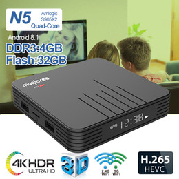 $enCountryForm.capitalKeyWord Australia - Cheap N5 MAX Android 8.1 TV Box Amlogic S905X2 4GB 32GB ROM LED Display 2.4G 5G WiFi BT4.1 Support 4K Media Player