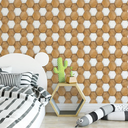 3d kitchens design NZ - 3D Stereo Simulation Hexagon Collage Brick Wall Sticker DIY Living Room Bathroom Bedroom Kitchen Tile Decor Self-adhesive Wallpaper Poster