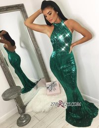 9082a70eb7b4c Black sequin gown red carpet online shopping - Reflective Sequins Mermaid  Dark Green Evening Dresses Long
