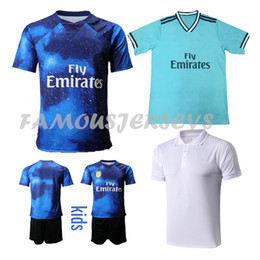 soccer polo Canada - Thai quality soccer jerseys Madrid Home away third game uniform 19-20 mens Real football club set kid kits polo shirt customized mix order