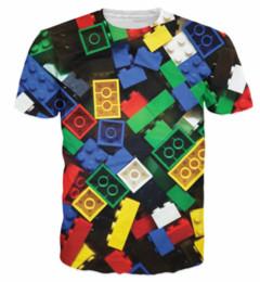 Plus Size Gold Shirt Australia - 2019 Newest Fashion Summer Lego Bricks T-Shirt Super Popular Kids Toy 3d Print T Shirt Camisetas for Unisex Women Men Tops S-Plus Size K1090