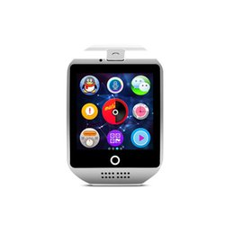 Wristwatch Sim Card Australia - Hot selling Q18 smart watch Bluetooth Watches Sports Wristwatch Camera TF SIM Card Slot Dial Call with Retail box for Android IOS iPhone