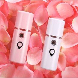 $enCountryForm.capitalKeyWord Australia - Portable USB Face Spray Bottle Nano Mister Facial Steamer Mini Atomization Mister Face Facial Moisturizing Replenishing Tools RRA890