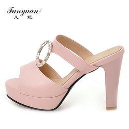 Ring Slides Australia - Fanyuan Women Slippers Summer Sandals Ring Buckle Womens Shoes Summer Slides Casual High Heel Platform Flip Flops chanclas mujer