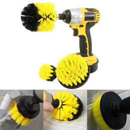 Suit Shower NZ - Power Scrub Brush Drill Cleaning Brush three-piece suit For Bathroom Shower Tile Grout Cordless Power Scrubber Drill Attachment Brush