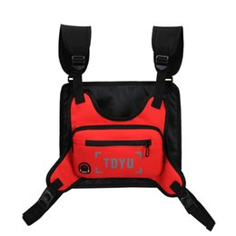 chest pouches Australia - Men Women Chest Bag Functional Boy Chest Rig Bag Waterproof Hip Hop Streetwear Rig Pouch Small Waist Pack