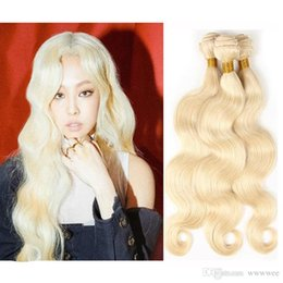 Blonde human hair extensions wefts online shopping - Brazilian Body Wave Straight Hair Weaves Double Wefts g pc Russian Blonde Color Can be Dyed Human Remy Hair Extensions