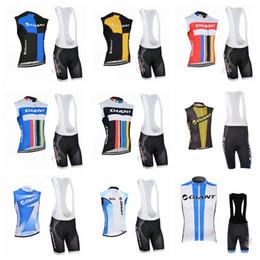 $enCountryForm.capitalKeyWord Australia - GIANT Cycling Sleeveless jersey Vest bib shorts sets men summer trend hot sale Breathable Comfortable Top brand 60337