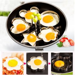 $enCountryForm.capitalKeyWord Australia - Fried Egg Pancake Shaper Stainless Steel Shaper Mould Mold Kitchen Rings Heart Kitchen Tool 5 designs