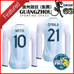 93cd9fc65 2019 ARGENTINA MESSI 10 long sleeve LS SOCCER JERSEYS HOME copa AMERICA CUP  AWAY ICARDI KUN AGUERO JERSEY 2020 FOOTBALL OFFICIAL FONT SHIRTS