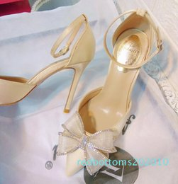 nightclub dresses sale UK - Hot Sale-Simple women pumps Thin High heel Satin Shallow mouth Pointed Sexy Nightclub sandals women shoes
