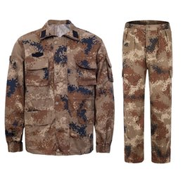 мужские костюмы  оптовых-Man Winter Autumn Training Clothes Outfits Camouflage Button Jackets Coats Long Pants Suits Mens Womens Loose Outdoor Clothing Sets