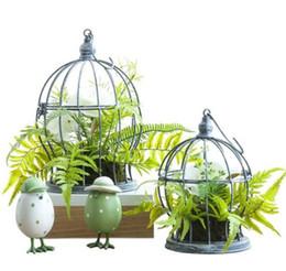 $enCountryForm.capitalKeyWord UK - Wrought iron fresh bird cage floral flower vase Living room balcony decoration artificial flower set
