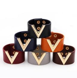 7 Farben Gold V Armband Leder V Form Charme Armband Armreif Manschetten Modeschmuck für Frauen Christams Geschenk