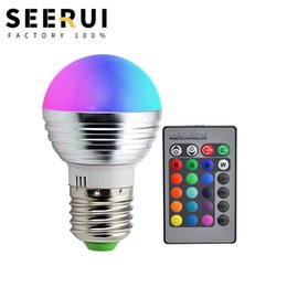 $enCountryForm.capitalKeyWord Australia - Led colorful energy-saving lamp 3W RGB color-changing bulb bar KTV stage E27 spiral control ball bubble