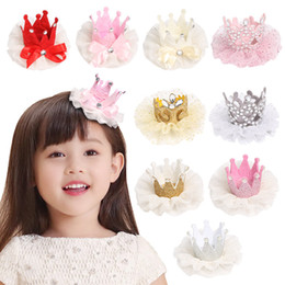 $enCountryForm.capitalKeyWord NZ - 14 Styles European and American baby candy colors Crown Designer Hairclips Lovely baby girl elegant hair bows accessories