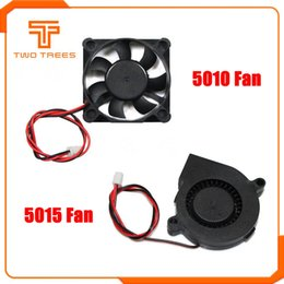 24v blower Australia - Cheap 3D Printer Parts & Accessories 5015 turbine Fan 12V 24V Cooling Brushless 3D Printer Parts 2Pin Dupont Wire DC Cooler Blower