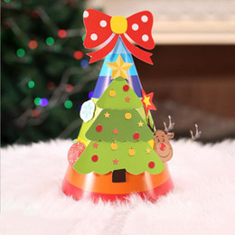 christmas decoration balls Australia - Christmas Tree Hat Snowman Paper Honeycomb Ball Party DIY Santa Hat Xmas Festival Decor Christmas Decorations LXL405-A
