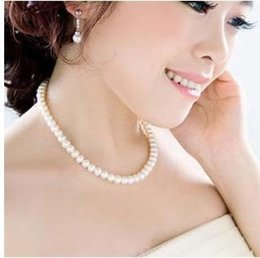 StainleSS Steel jewelry Sell online shopping - 2018 hot selling new fashion cheap jewelry Elegant and generous imitation simulated pearl necklace for women