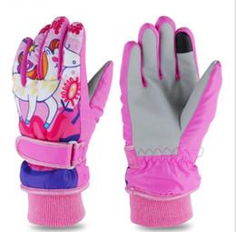 Kid S Gloves Australia - Winter Children's Waterproof Snow Gloves Outdoor Kid's Skiing gloves Thicken Warm Snowboarding Gloves For the Kids