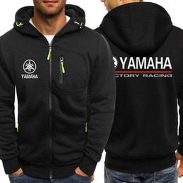 Long Motorcycle Jackets Australia - Yamaha motorcycle Hooded Cardigan for Men Zipper Comfy Spring Autumn Hoodies Long Sleeve Sweatshirts Male Jackets Tracksuit Casua Wear