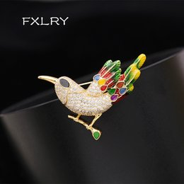 EnamEl flowEr broochEs online shopping - Colored zircon Bird Brooches for Women Flower and Magpie Pins Shining Animal Jewelry Design Enamel Pin High Quality Gift