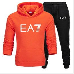 vetement hoodie NZ - Men's tracksuit Autumn Winter Patchwork Hoodie Sweatshirt Top Pants Sets Sporty Suit Tracksuit ropa deportiva hombre vetement High Quality