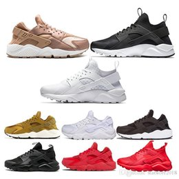 $enCountryForm.capitalKeyWord NZ - Luxury huarache Shoes Air Men Women Designer Sneaker black white Triple black white all red rose gold yellow white Running Shoes Size 36-45