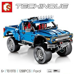 Toys Bricks Australia - 1288pcs Compatible Legoing Technic Ford F-150 Raptor Building Blocks Model Kit Bricks Set City Pick-up Truck Kids Toys Gift