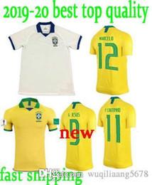3fe67a52d 2019 2020 New Top quality World cup Brasil soccer jerseys men Brazil Jersey  19 20 JESUS COUTINHO FIRMINO MARCELO football shirts uniform