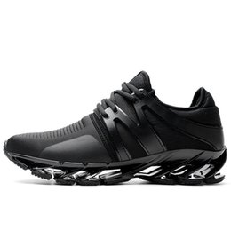 Leather Running Shoes For Men UK - 2019 New Running Shoes For Men Breathable Zapatillas Hombre Outdoor Sport Sneakers Lightweigh Walking Shoes Size 39-45 Sneakers