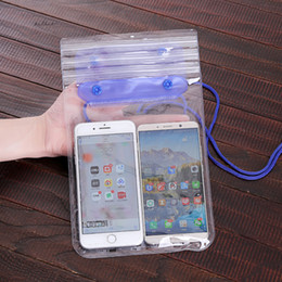 clear waterproof cell phone pouch 2019 - Universal Mobile Phone Waterproof Swimming Pouch Case Clear PVC Sealed Underwater Cell Phone Protect Bags With Strap VT1