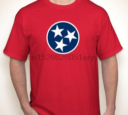 Country flag red white blue online shopping - TENNESSEE FLAG Nashville country music titans state born made in T shirt S XL cotton tee shirt tops tee