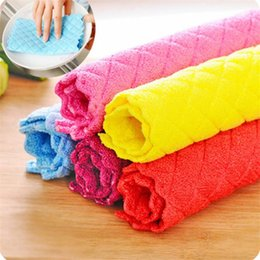 $enCountryForm.capitalKeyWord Australia - High Efficient Anti-grease Color Dish Cloth Bamboo Fiber Washing Towel Magic Kitchen Cleaning Wiping Rags 2019 Hot Sale 2281c