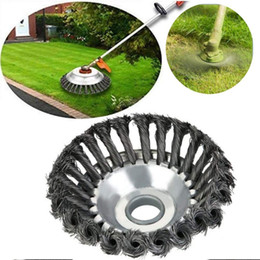 "straight cutters NZ - 6"" 8"" Steel Wire Trimmer Head Grass Brush Cutter Dust Removal Grass Plate for Lawnmower Universal Fit Straight Shaft Trimmer"