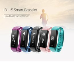 Smart Watch Use Dhl For Shipping Australia - ID115HR Smart Band Fitness Tracker Activity Monitor Smart Watch Touch Screen For IOS Android Devices With Box DHL Shipping
