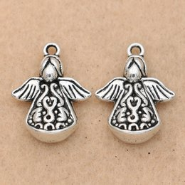 $enCountryForm.capitalKeyWord Australia - Fashion Jewelry Charms 10pcs Angel Fairy Charm Pendant fit Bracelet Necklace Tibetan Silver Plated Jewelry DIY Making Accessories 22x17mm