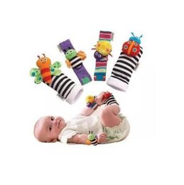 baby feet rattles Australia - 2020 New Arrival Wrist Rattle & Foot Finder Baby Toys Baby Rattle Socks Plush Wrist Rattle+Foot Baby Socks DHL Free Ship 1000pcs