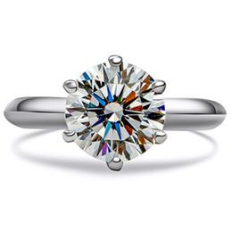 $enCountryForm.capitalKeyWord NZ - Test as Diamond ! 3CT Ring Crown Design Prongs Excellent Round Moissanite Diamond Ring Jewelry Women 750 White Gold Engagement