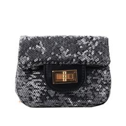$enCountryForm.capitalKeyWord UK - 2019 Fashion New Girl Children Sequin Square bag High quality PU Leather Handbag Tassel Chain Shoulder Crossbody Bag 6.12